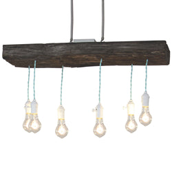 Sofia Railroad Tie Chandelier w/Adornments