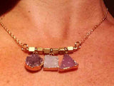 DRUZY 3 Shape Gold Necklace