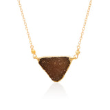 DRUZY TRIANGLE GOLD FILLED+PLATED NECKLACE