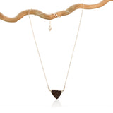 DRUZY TRIANGLE STERLING SILVER+PLATED NECKLACE