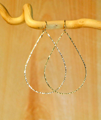 LARGE TEAR LIGHT EARRINGS