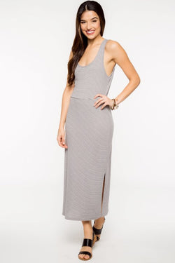Striped Open Back Maxi