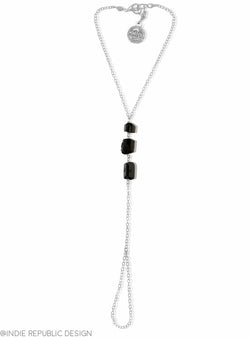 HELIOS Black Tourmaline Hand Chain