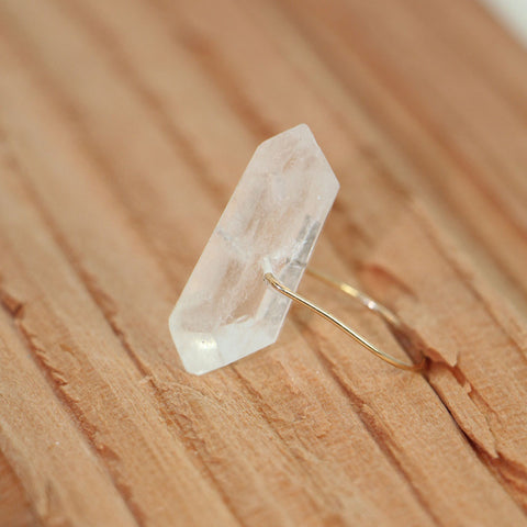 HELIOS Crystal Quartz Simple Gold Ring