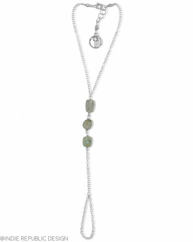 MERMAID STONE Aquamarine Hand Chain