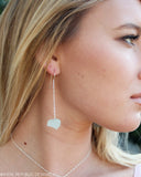 MERMAID STONE Aquamarine Chunk Drop Earrings