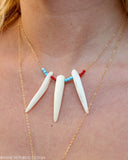 SEA'S GARDEN 3 Coral Dagger Necklace