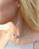 SHAMAN Amethyst Chain Drop Earrings