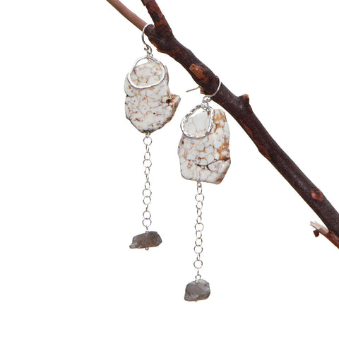HOWLITE Dangle Stick Earrings