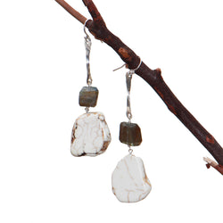 HOWLITE Stick Earrings