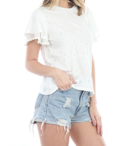 Distressed T-Shirt - White