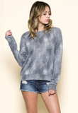 IRDC Round Neck Lace Back Sweatshirt - Mauve