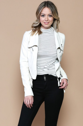 Leather Jacket - Ivory