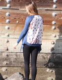 Cardigan with Butterfly Print
