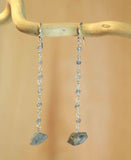 LABRADORITE LINK DROP NUGGET EARRINGS