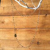 LABRADORITE NUGGET LONG NECKLACE
