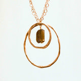 LABRADORITE 2 Circle Rock Sm & Lg Circle Necklace