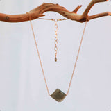 LABRADORITE LG SIMPLE ROCK NECKLACE