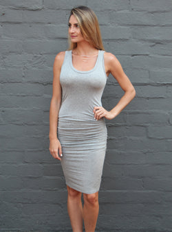 Frankie Dress - Heather Grey