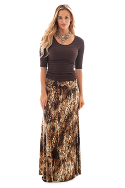IRDC-Maxi Skirt - Python Brown - 397