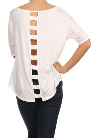 Mid-Sleeve Shirt with back cut outs