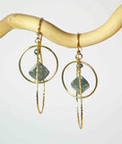 PYRITE TEAR CIR NUGGET DROP EARRINGS