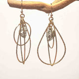 PYRITE TEAR EYE CIR NUGGET EARRINGS