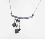 PYRITE 3 DROP OFFSET NECKLACE