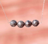 PYRITE 4 SPHERE STRAIGHT NECKLACE