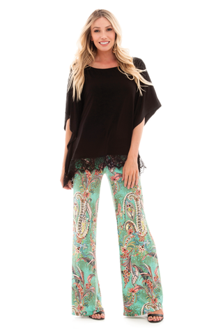 IRDC-Palazzo Pant - Mint/Coral Gardens - 429