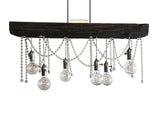 The Railroad AQUAMARINE Chandelier (6 bulb)