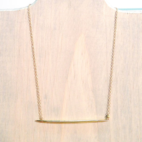SIMPLE Gold Dagger Necklace