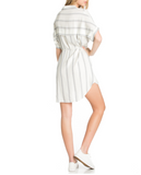Navy Stripe Woven Dress