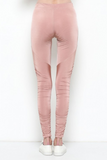 Pearl Satin Leggin Pants - Rose Gold