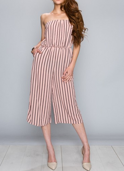 Tube Stipe Jumpsuit