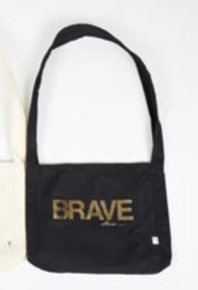 I AM ... Brave Crossbody Bag - Black