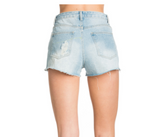 Denim shorts with Stars - Denim
