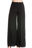 IRDC Open leg long flowing pants - Black