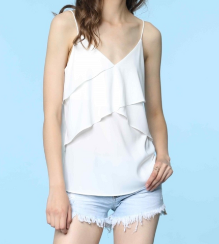 IRDC Asymmetric Multi Layer Cami - Off White