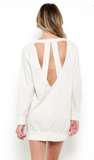 Open Back Sweatshirt - Oatmeal