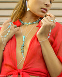 MERMAID STONE Turquoise simple drop Choker