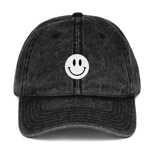 Mr.Smiley Vintage Cotton Twill Cap