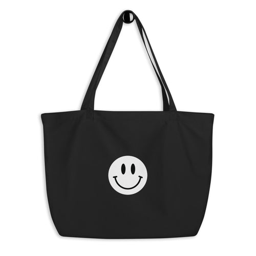 Mr.Smiley Large Organic Tote Bag