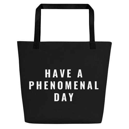 Phenomenal Day Beach Bag Tote Black