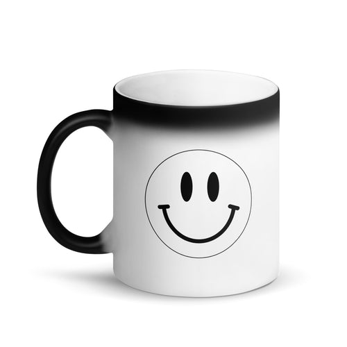 Mr.Smiley Magic Morning Matte Black Mug