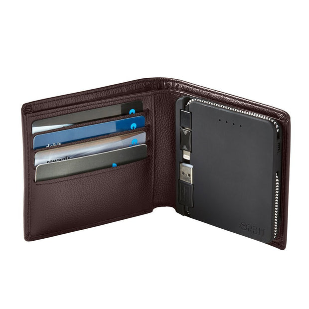 Orbit Phone Charging Wallet - Brown