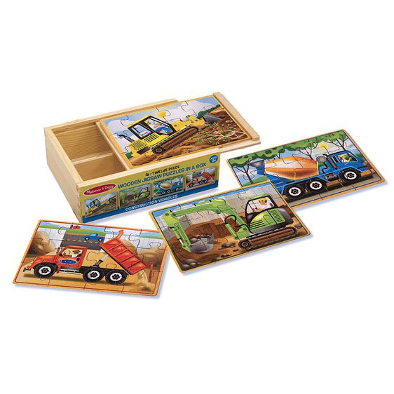 Melissa & Doug - Construction Jigsaw Puzzles in a Box