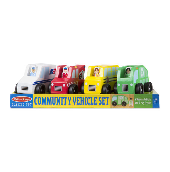Wooden Community Vehicle Set