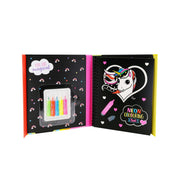 Neon Colouring Book With Felt Pens