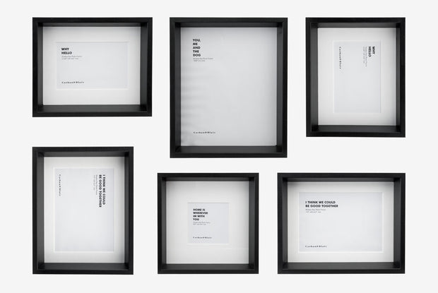 Corban & Blair - Shadow Box 6 Piece - Black